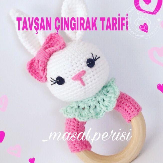 fabartdiy Crochet Teddy Bear Keychain Amigurumi Free Patterns f | 650x650