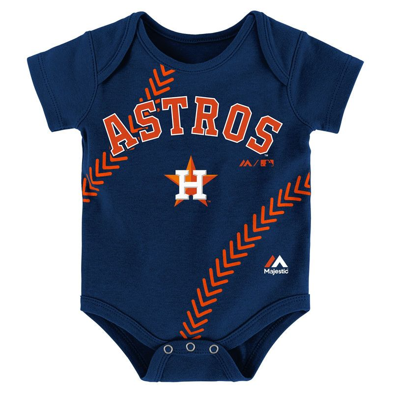 2d6b88ce098 Houston Astros Majestic Newborn   Infant Fan-Atic Baseball Bodysuit - Navy