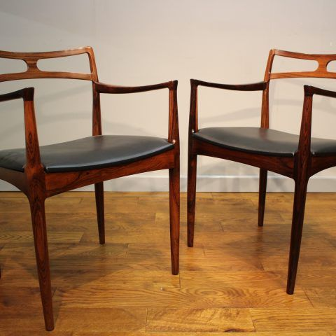Merveilleux Set 6 + 2 Carvers Johannes Andersen Rosewood Chairs   Pure Imagination