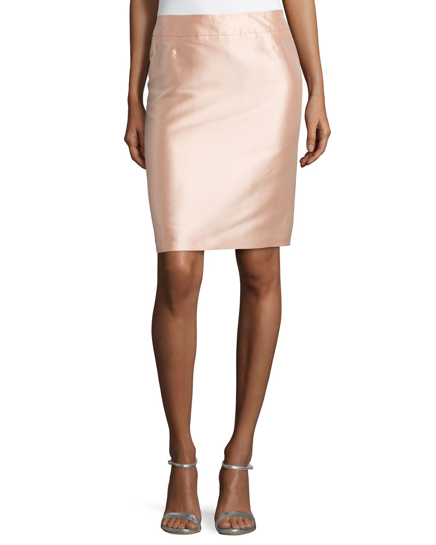 High-Waist Pencil Skirt, Desert Rose, Size: 34 - Escada