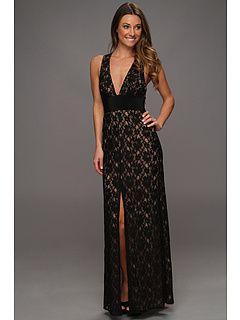 BCBGMAXAZRIA Serafina Lace Evening Gown