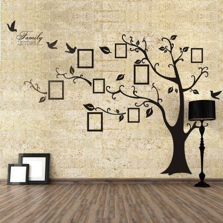 arbre familial sticker mural dans le salon   Decorating ideas ...