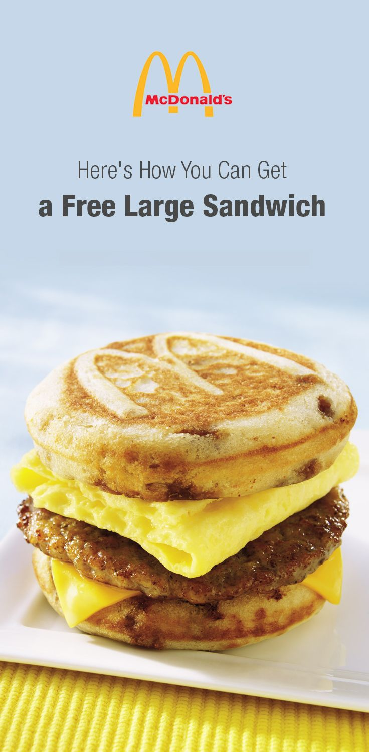 Mcdonalds Coupon Buy One Large Sandwich Get One Free Food