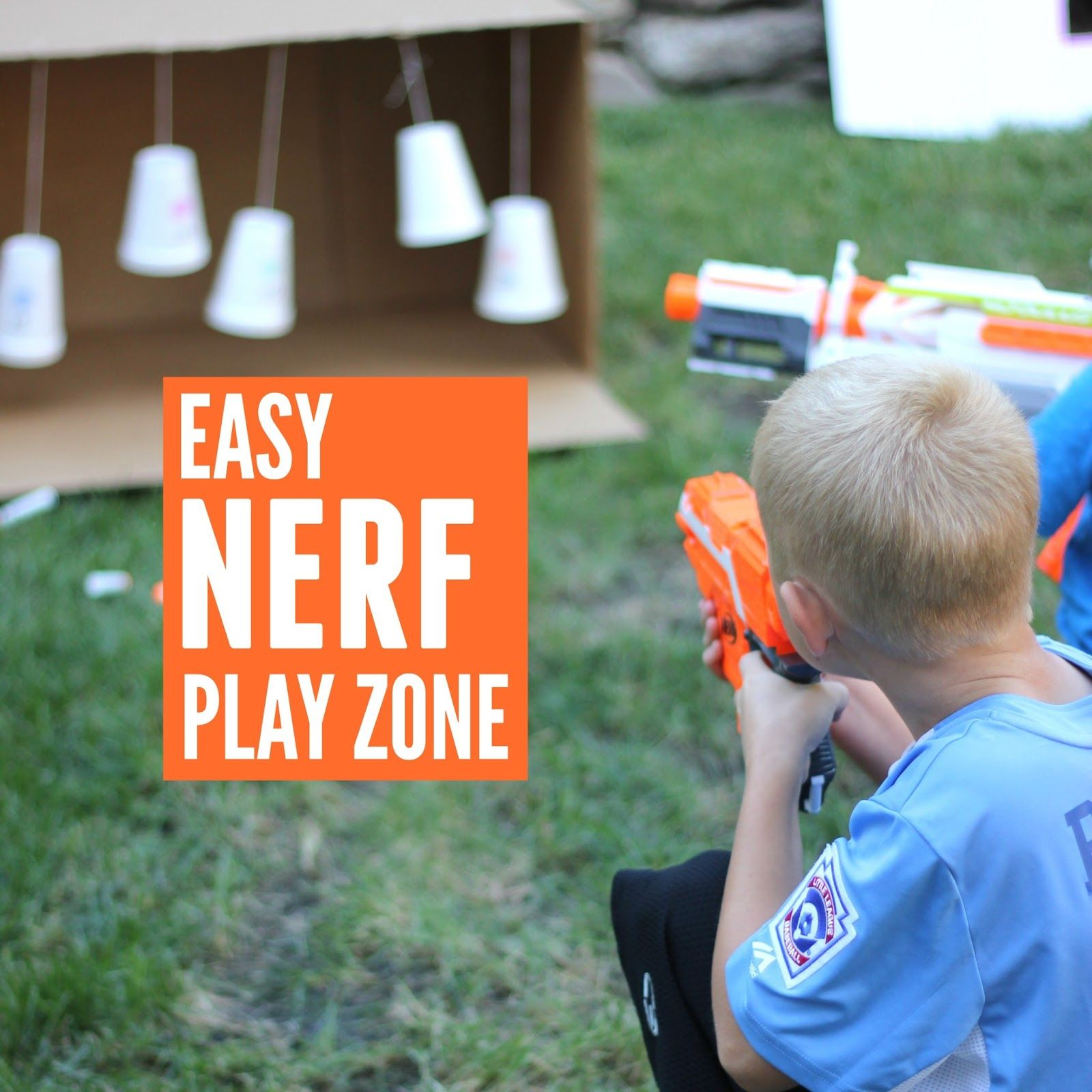 Create a Fantastically Simple NERF Family Play Zone