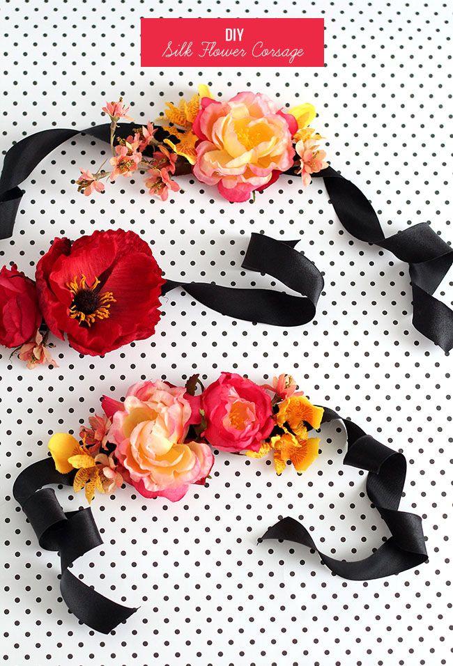 Diy silk flower corsage diy ideas pinterest corsage flower diy silk flower corsage mightylinksfo