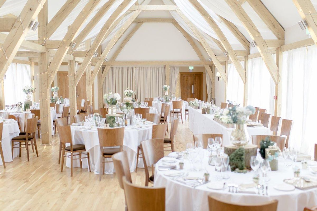 The Moat Barn was the perfect light and airy space for the couple\'s ...