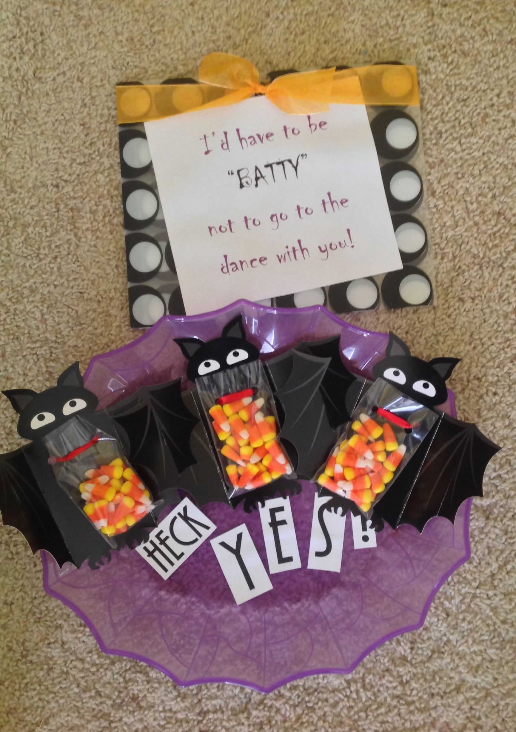 Cute way to answer to a Halloween dance! Thanks Brett for