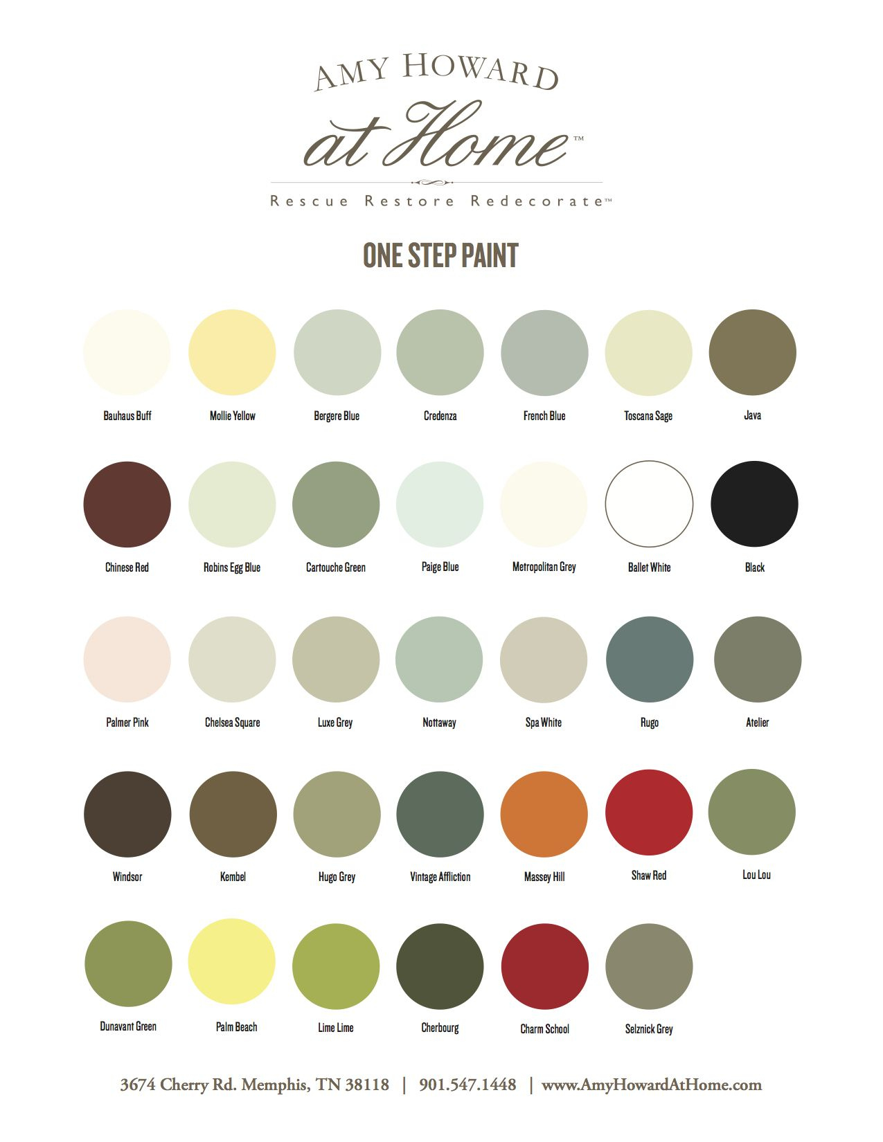 Amy Howard One Step Paint Swatches