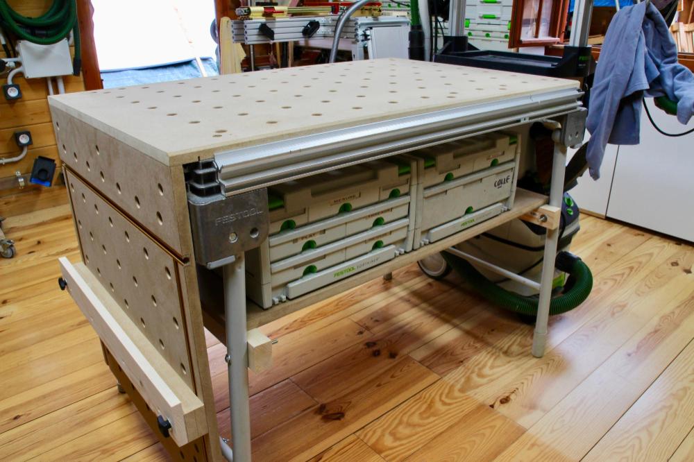 Ma Festool Mft 3 La Yaute Woodworking Etabli Pliant Defonceuse Sous Table Etabli