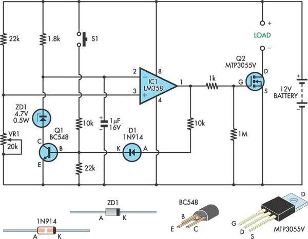 battery under voltage protection circuit electronics forums