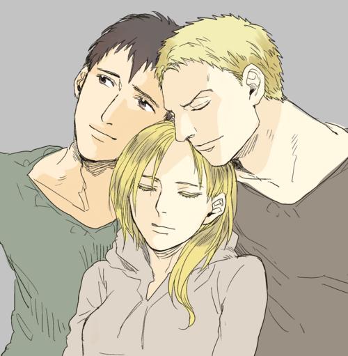 Bertholdt, Annie and Reiner