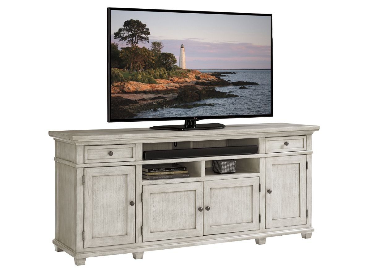 Oyster Bay Kings Point Large Media Console Lexington Home Brands Entertainment Center Furniture