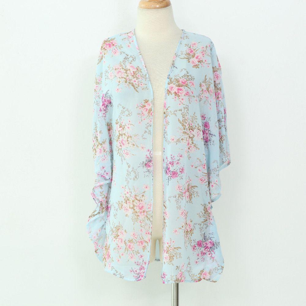 Light Blue Floral Kimono | TOPS | TANKS | KIMONOS | Pinterest ...
