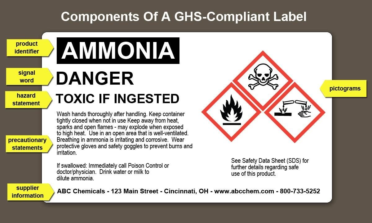 Great Example Of A Ghs Osha Compliant Label Label Templates Free Brochure Template Label Software