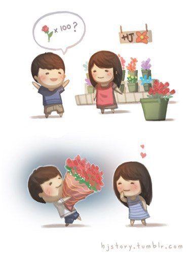 Image Via We Heart It Amor Animacion Aww Caricatura Dibujo Flowers Frase Him Love Lovei Amor De Pareja Lindas Fotos De Amor Historias De Amor Bonitas