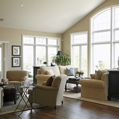 Large Open Living Space   Traditional   Living Room   Toronto   Jacqueline  Glass And Associates Walls Are Benjamin Moore Shaker Beige
