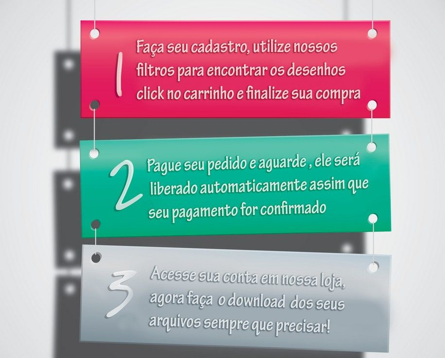 Saiba mais como comprar em nossa loja:  http://www.clickborde.com.br/como-comprar
