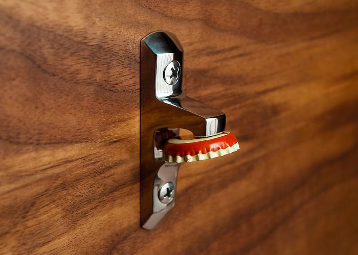 Magnetic, mountable, stainless steel bottle opener. Thoughtful design crafted to last a lifetime.