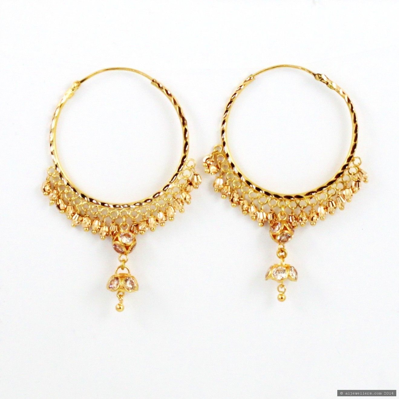 indian gold earrings - Google Search | jewelry | Pinterest | Gold