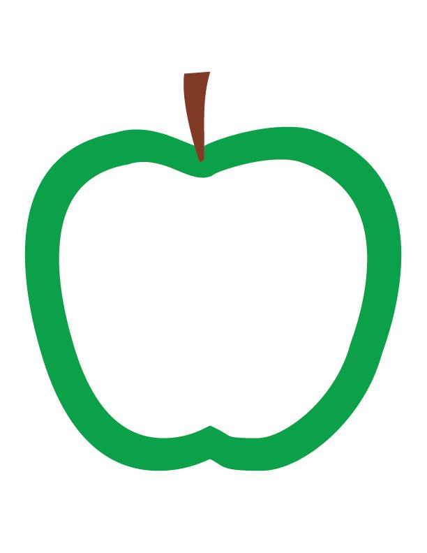Apple Outlines Apple Outline Apple Unit Study Apple Unit
