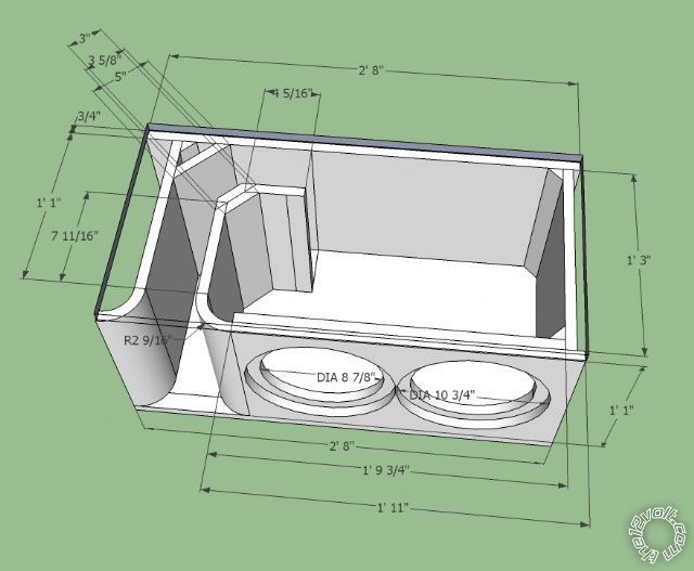 subwoofer box design for 12 inch - Google Search   System s ...
