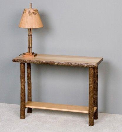 I love the dark/light contrast Hickory Sofa Table