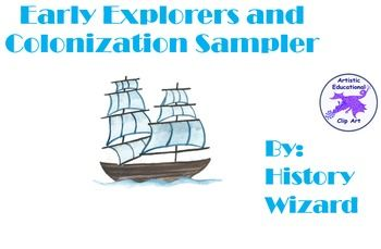This great sampler includes three great webquests covering European Explorers, the Pilgrims, and the Triangle Trade/Slave Trade. A worksheet on Christopher Columbus is also included. Save yourself time and money by buying this sampler pack. Each webquest takes at least one class period to finish and are perfect for students in grades 5 through 12.