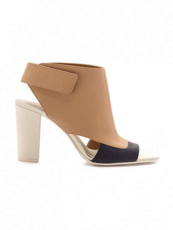Vince Agatha Open Toe Booties // Color block booties