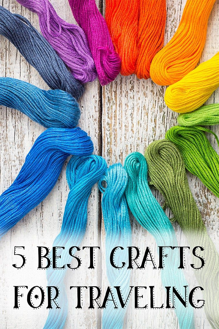5 Best Crafts for Traveling Portable Crafts for