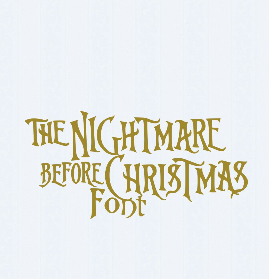 Nightmare before Christmas SVG Font, Digital Alphabet, SVG Letters ...