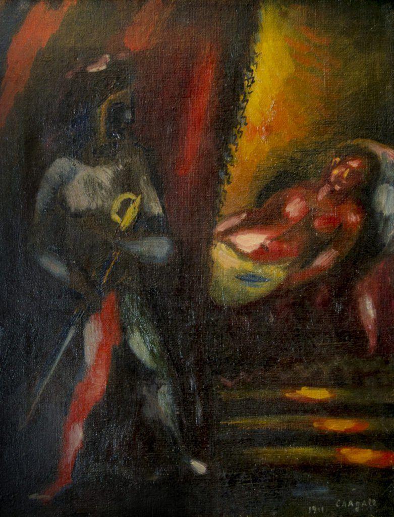 Resultado de imagen para Otelo y Desdémona pintura Marc Chagall