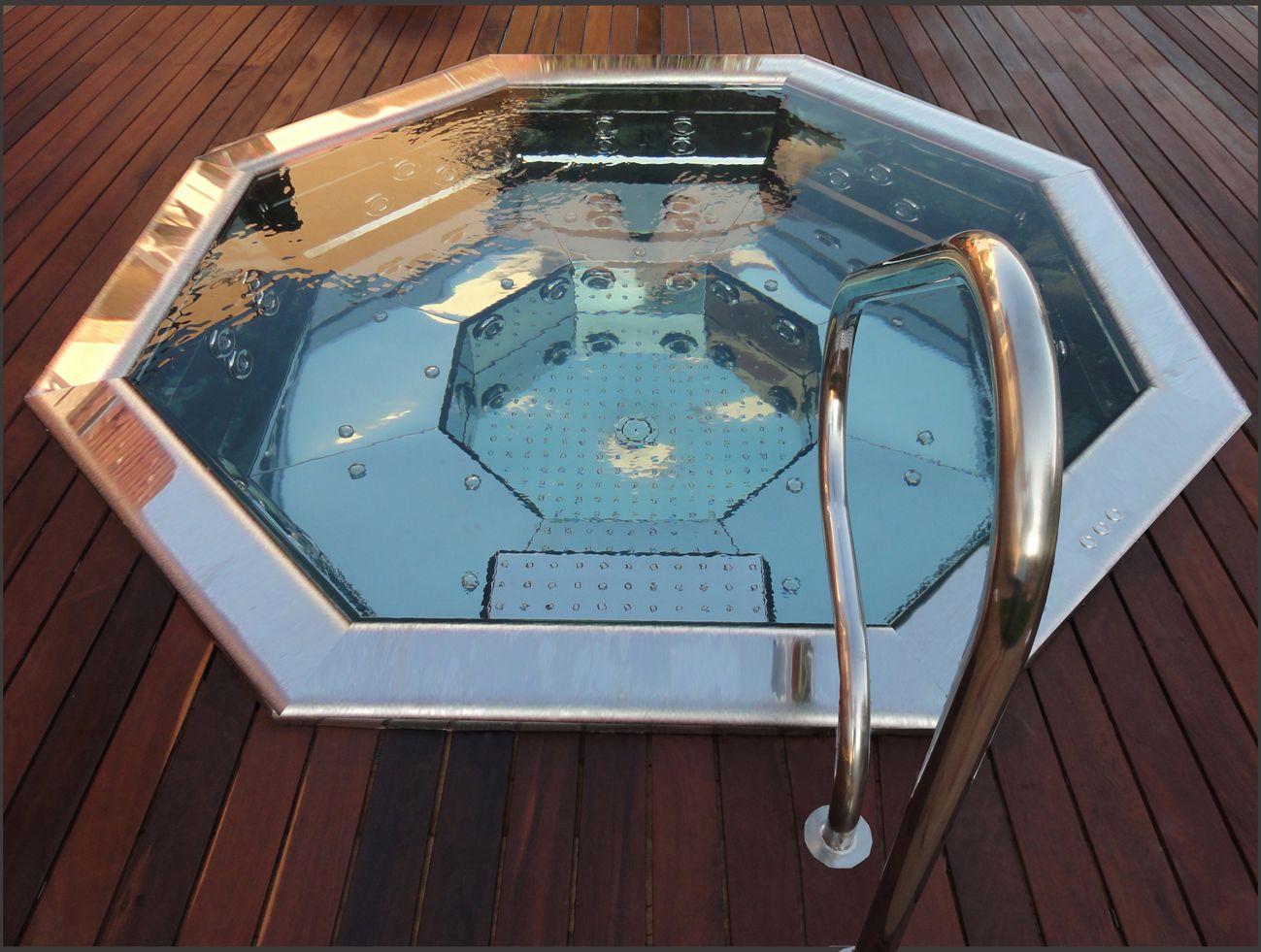 Piscine En Inox Steel And Style spas inox : elégance, design, qualité, | ouest spas
