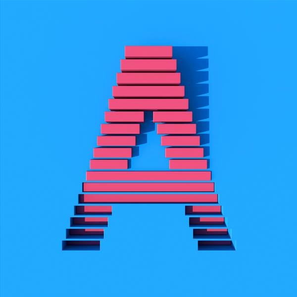 3D-rendered alphabet by Muokka studio