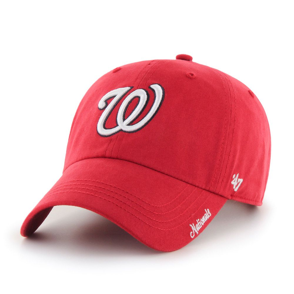 online store 2a7ef 4fe53 Adult  47 Brand Washington Nationals Clean Up Hat, Women s, Red