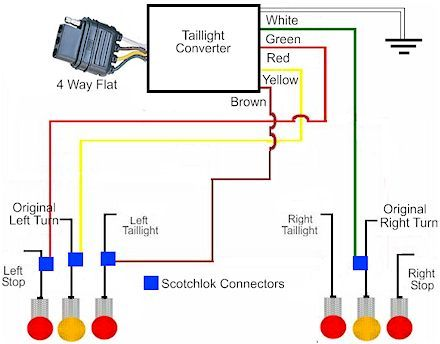pin on trailer wiring  warner trailer plug wiring diagram #4