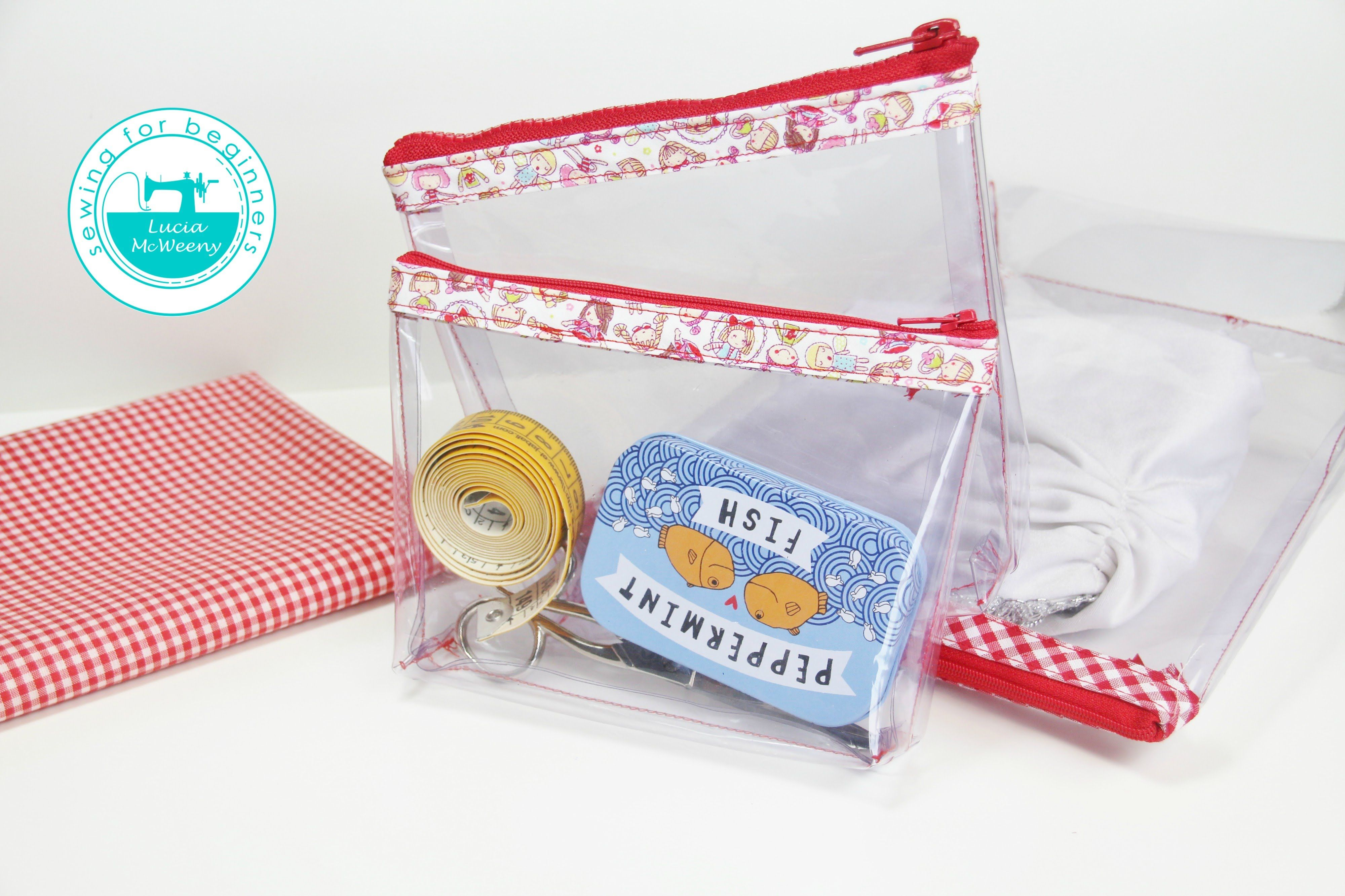 Follow this easy DIY to make a clear pencil case or