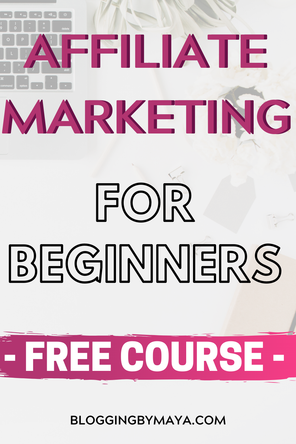 Do you want to learn how to make money with affiliate marketing? Click through for a free affiliate marketing course! A full step by step affiliate marketing for beginners guide! Make money blogging with affiliate marketing! #affiliatemarketingtips #affiliatemarketingforbeginners #makemoneyblogging