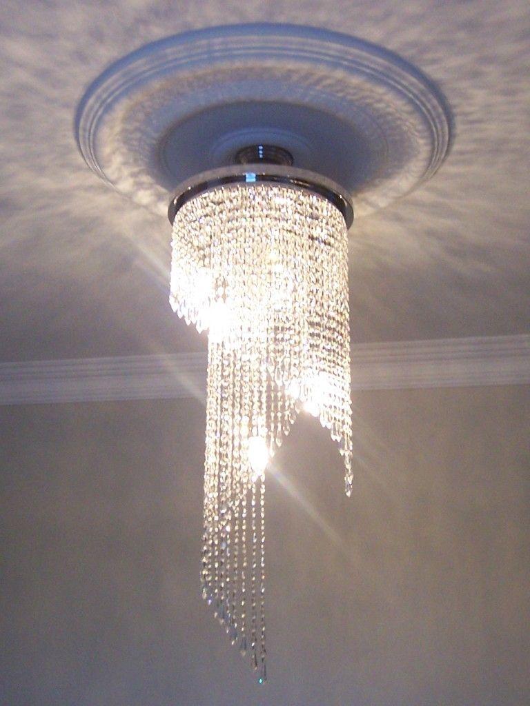 Hallway lighting modern  Hand Made Crystal Chandelier  hallway  Pinterest  Chandeliers and