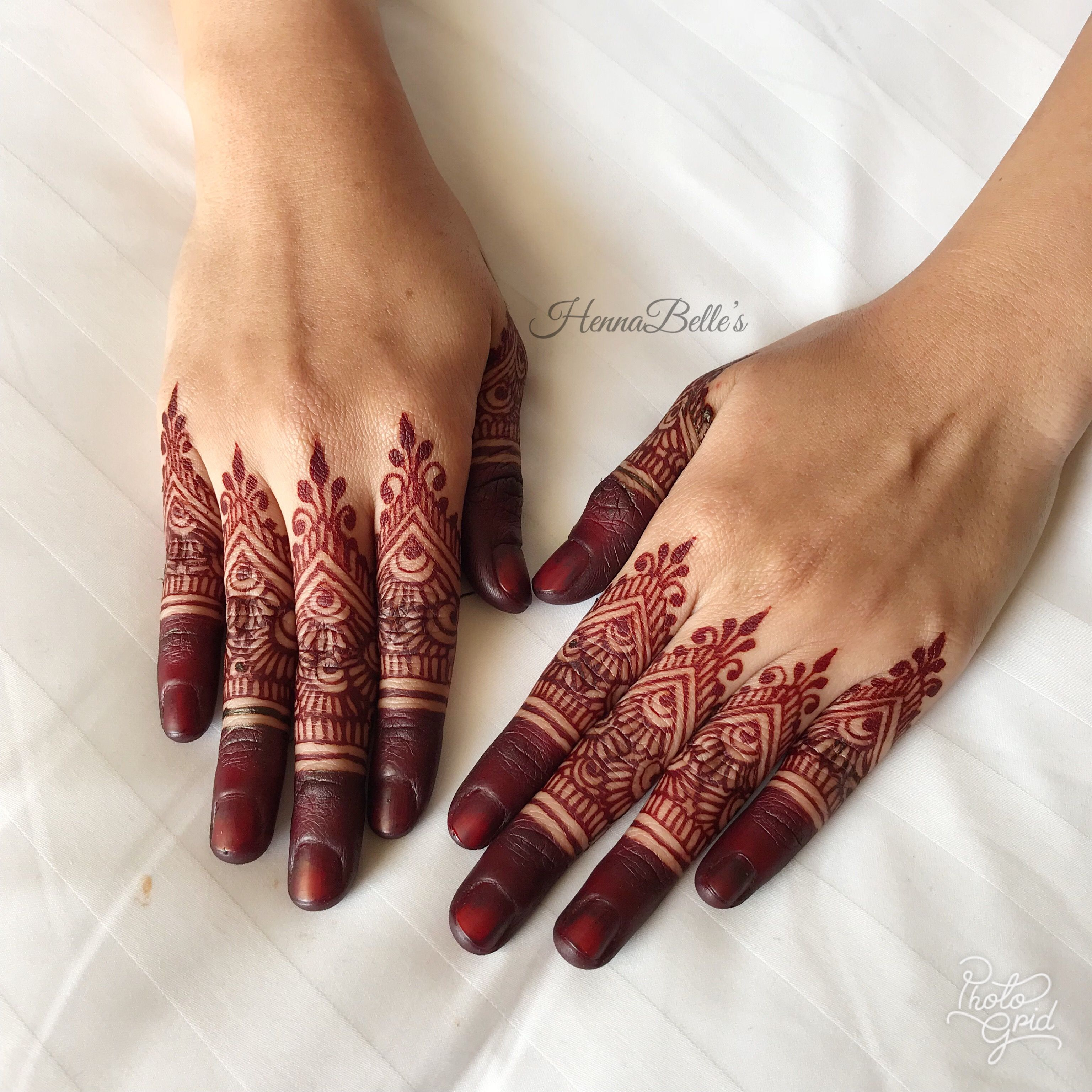 Pin By Hennabelle On Fingercaps By Hennabelle Finger Henna