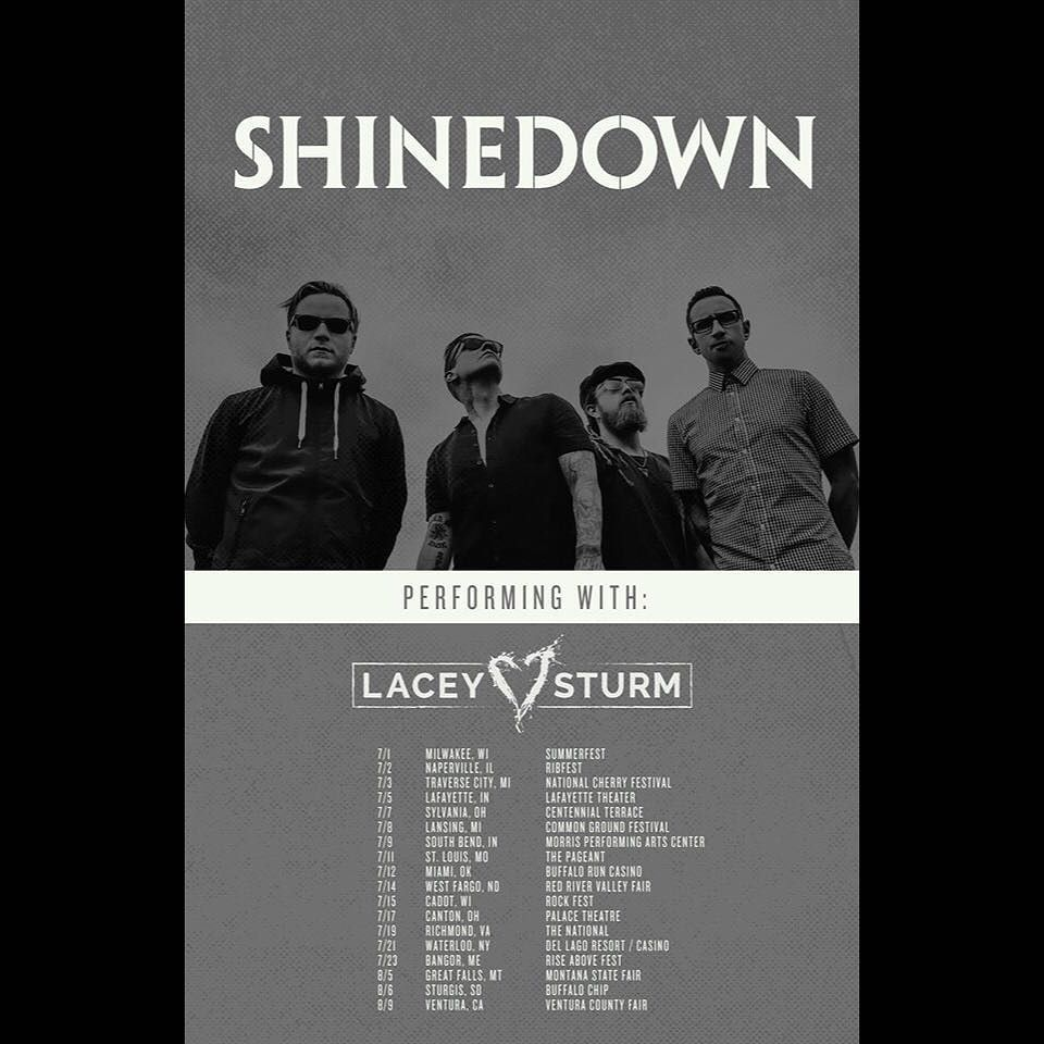 Via Shinedown Shinedown Nation Tickets Are Now On Sale For The