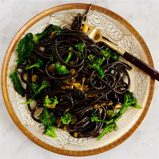 Photo of spaghetti with broccoli anchovies and pine nuts | my primrose hill kitchen