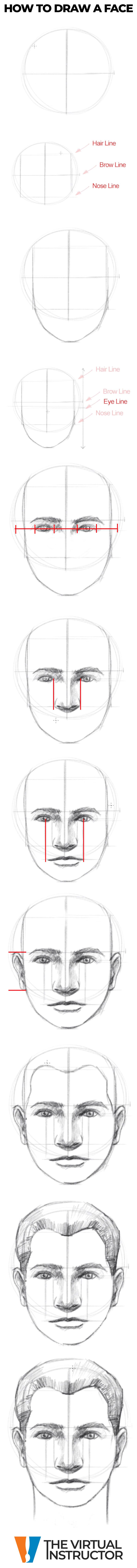 How To Draw A Face Step By Step Art Drawings Sketches Simple Art Worksheets Color Pencil Art