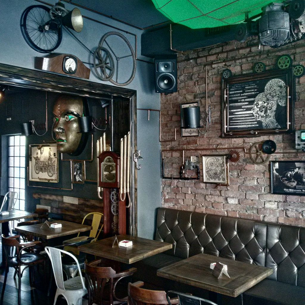 Superb Wonderful Interior Steampunk Cafe Design Ideas   Violinav.Com