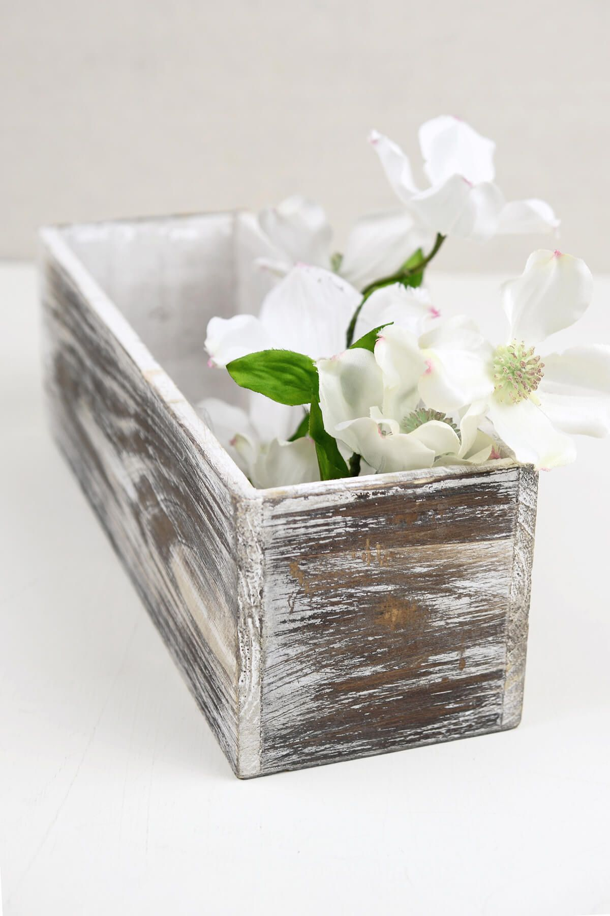 White Washed 4x12 Planter Boxes Wood Wood planters
