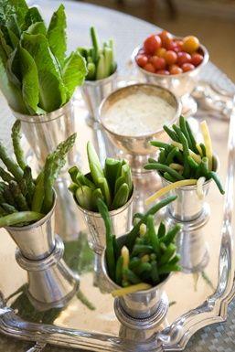 Serving veggies and dip