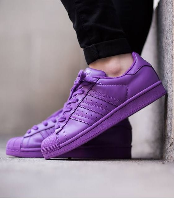 adidas superstar slip on purple