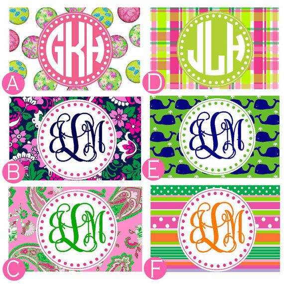 personalized credit card design preppy by thepreppycafe on etsy 800 - Personalized Credit Cards