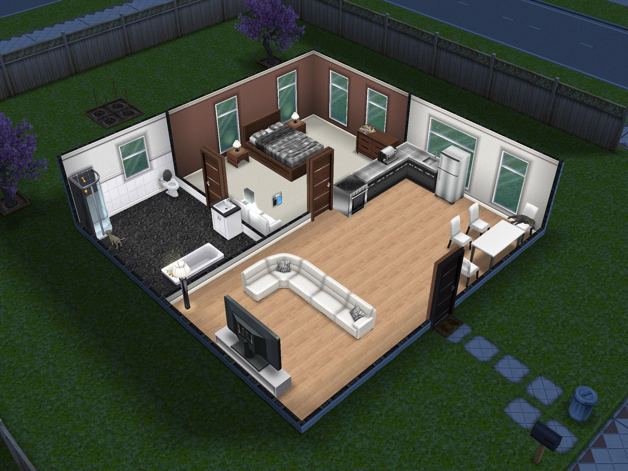Small and simple sims freeplay house houses layout layouts also rh pinterest