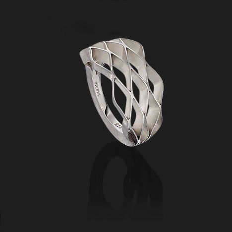 Benjamin Hubert has launched a range of pleated jewellery with German jeweller Biegel.