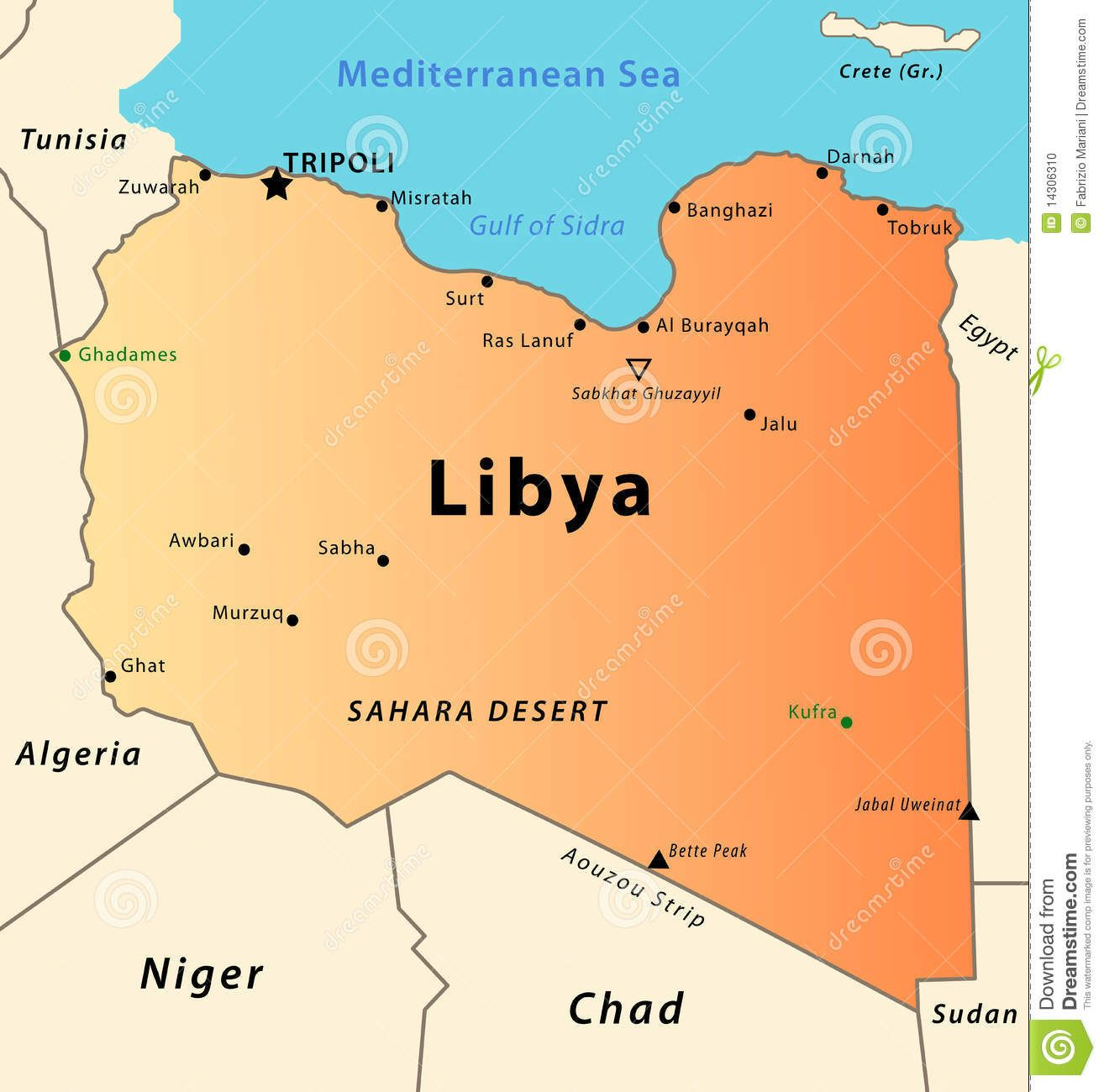 Map of Libya libya Pinterest
